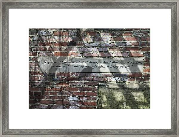 Lovely Garden Wall Framed Print