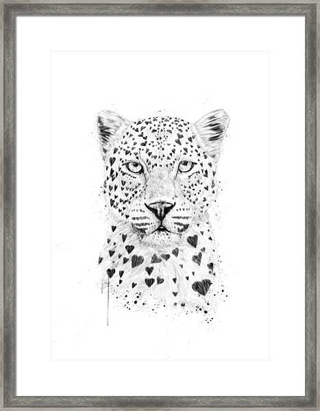 Lovely Leopard Framed Print