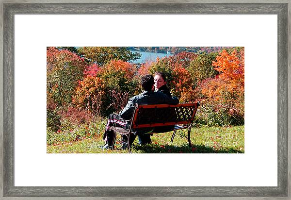 Lovers Framed Print by Andrea Simon