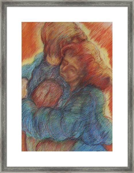 Lovers Embrace Framed Print