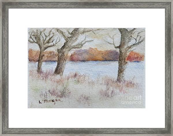 Lovers' Lake Framed Print
