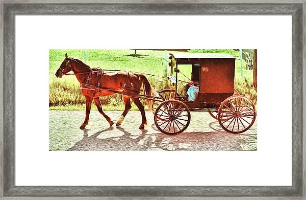 Lovers Red Pony Framed Print