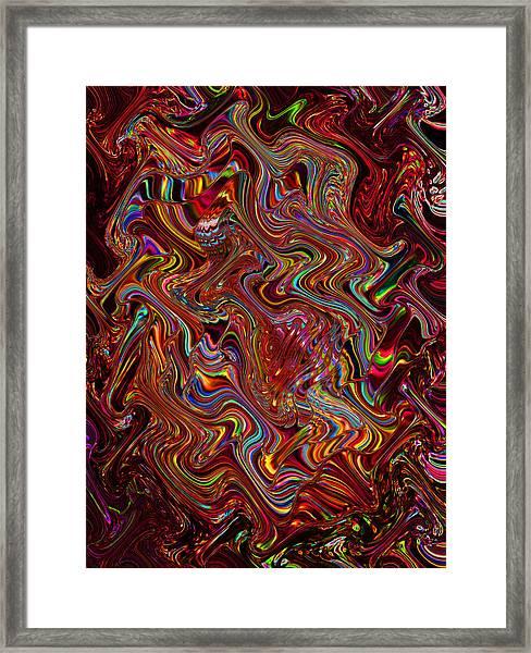 Love's Closet - Red Framed Print