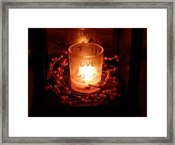 Love's Glow Framed Print