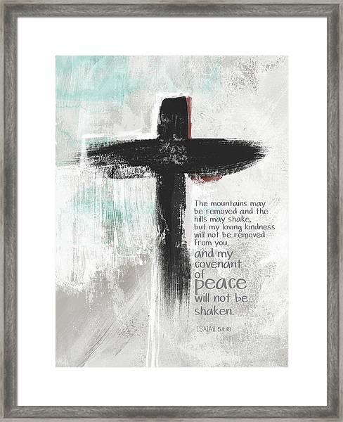 Loving Kindness Cross- Art By Linda Woods Framed Print