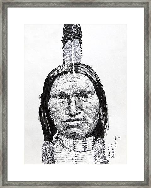 Low Dog Sioux Framed Print