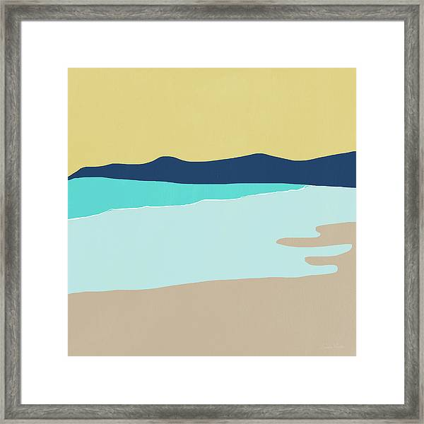 Low Tide- Art By Linda Woods Framed Print