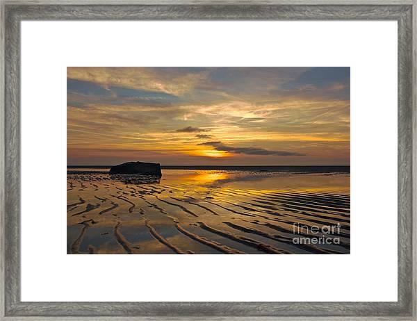 Low Tide At Mayflower Beach Framed Print