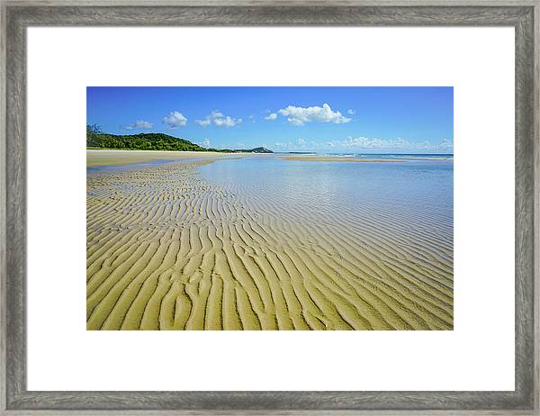 Low Tide Beach Ripples Framed Print