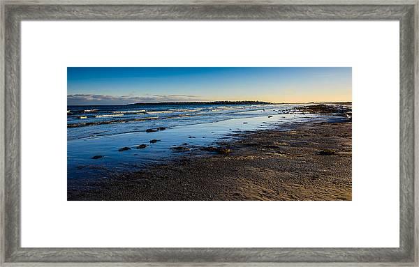 Low Tide In Winter Framed Print
