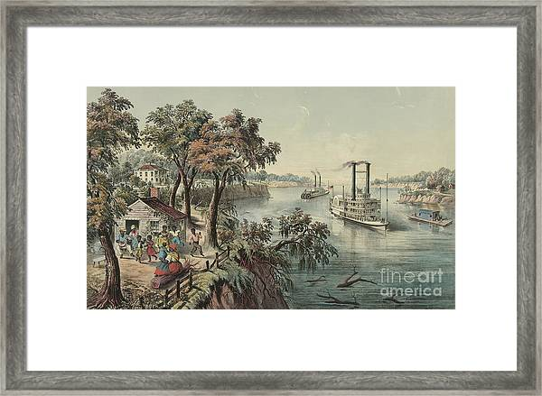 Low Water In The Mississippi, 1868  Framed Print