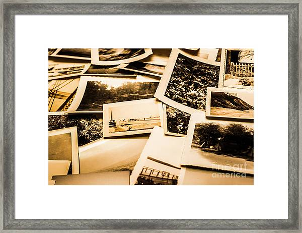 Lowdown On A Vintage Photo Collections Framed Print