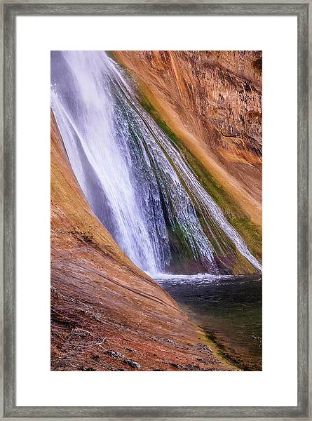 Lower Calf Creek Falls Framed Print