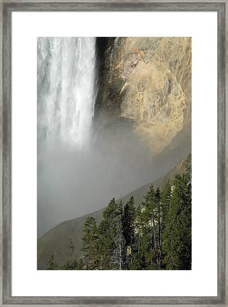 Lower Falls Closeup Framed Print
