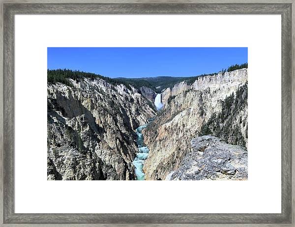 Lower Falls From Artist Point Framed Print