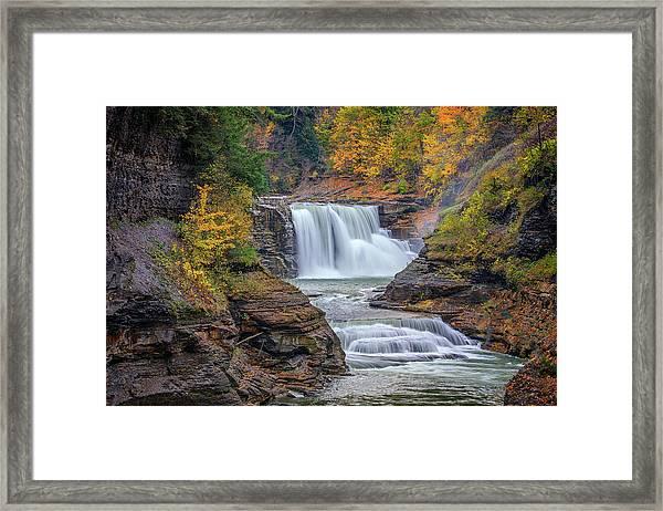 Lower Falls In Autumn Framed Print