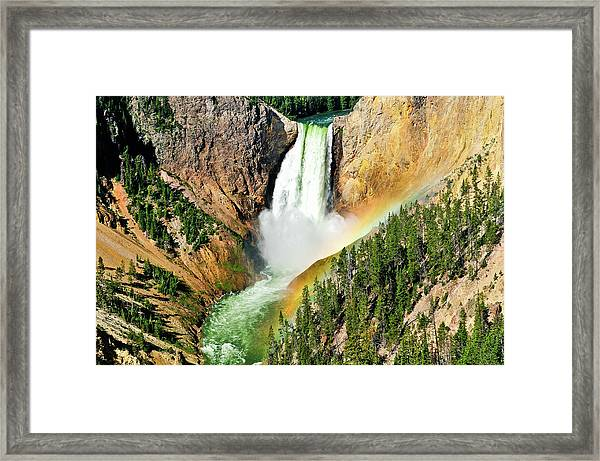 Lower Falls Rainbow Framed Print
