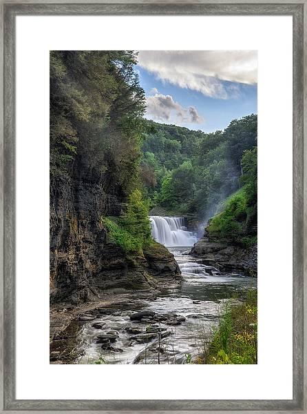 Lower Falls - Summer Framed Print