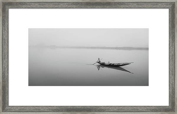 Lower Ganges - Misty Morinings Framed Print
