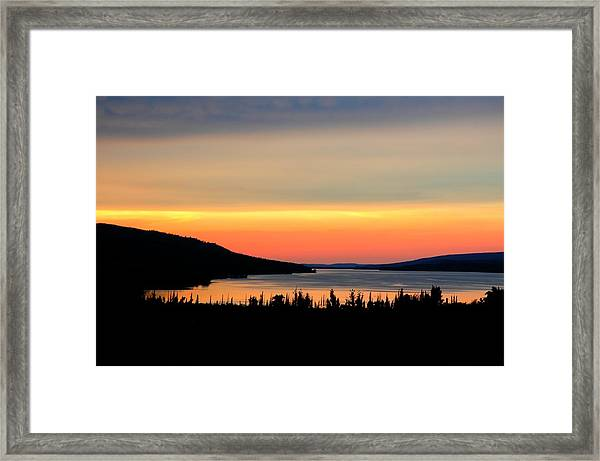 Framed Print featuring the photograph Lower Lake St. Marys by David Armstrong