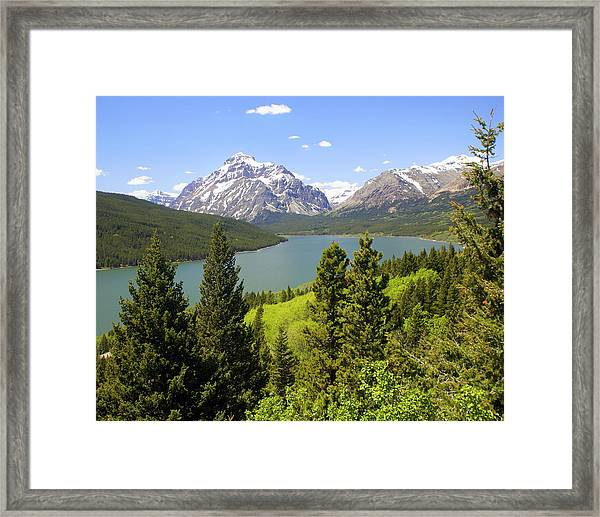 Lower Two Medicine Lake Framed Print