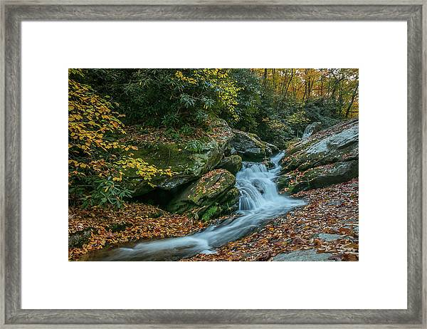 Lower Upper Creek Falls Framed Print