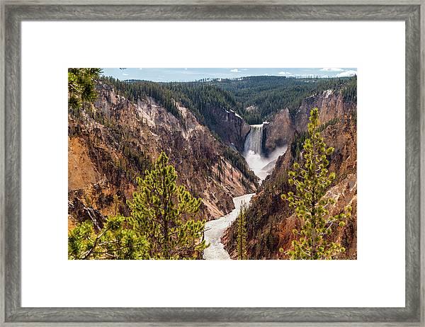 Lower Yellowstone Canyon Falls 5 - Yellowstone National Park Wyoming Framed Print