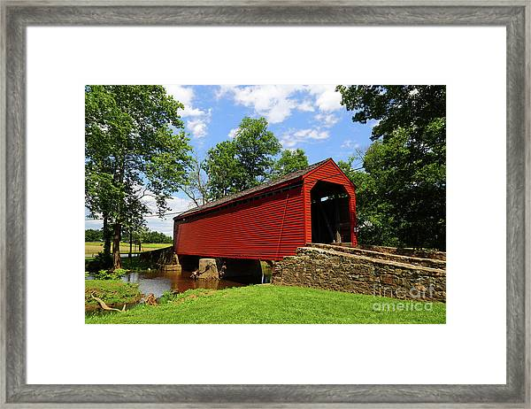 Loys Station Covered Bridge Frederick County Maryland Framed Print