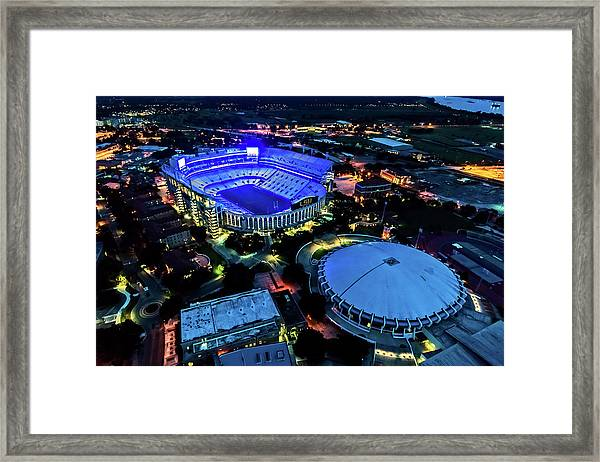 Lsu Tiger Stadium Supports Law Enforcement Framed Print