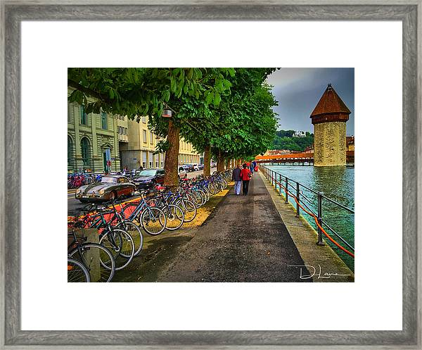 Framed Print featuring the photograph Lucern Stroll by David A Lane