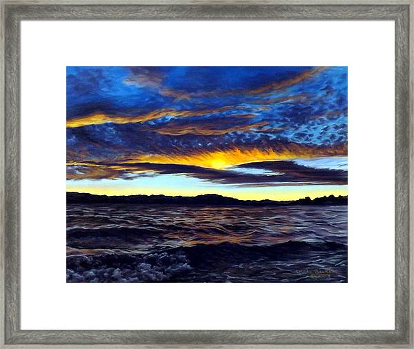 Lucerne Sunset Framed Print