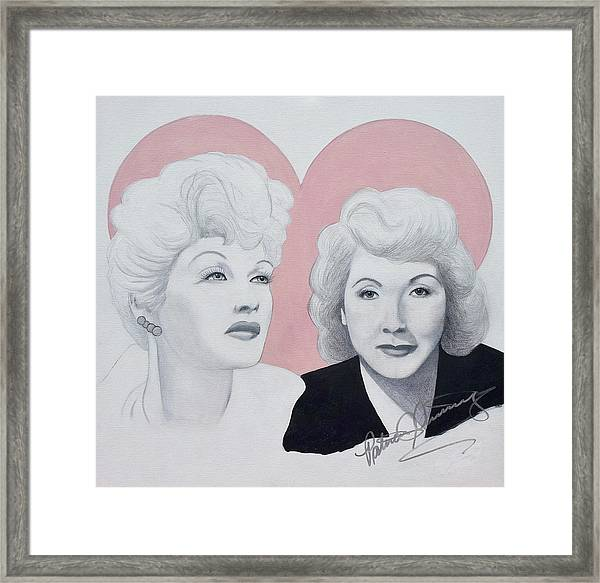 Lucille And Vivian Framed Print