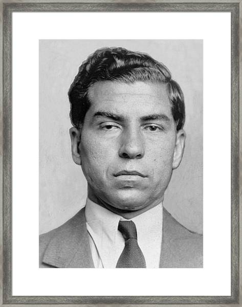 Lucky Luciano 1896-1962 Was Imprisoned Framed Print