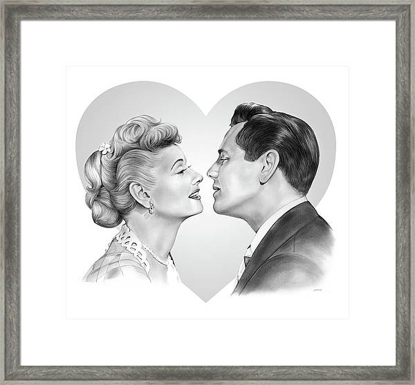 Lucy And Desi Framed Print