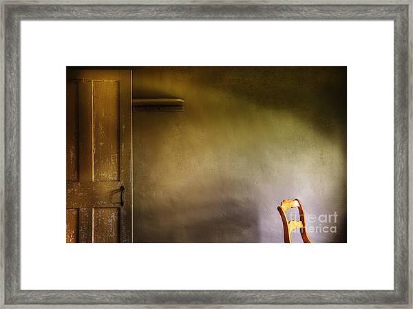 Luminous Chair Framed Print