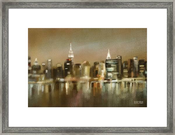 Luminous New York Skyline  Framed Print