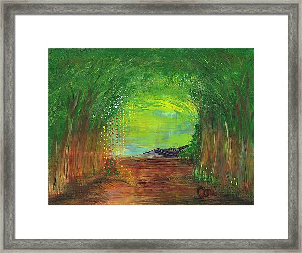 Luminous Path Framed Print