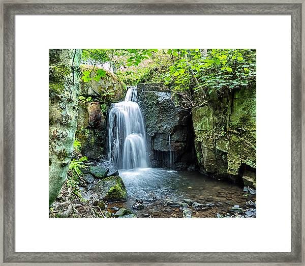Framed Print featuring the photograph Lumsdale Falls by Nick Bywater