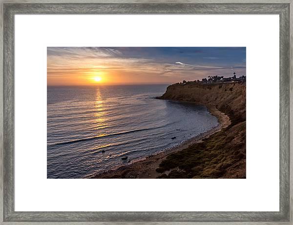 Lunada Bay Sunset Framed Print