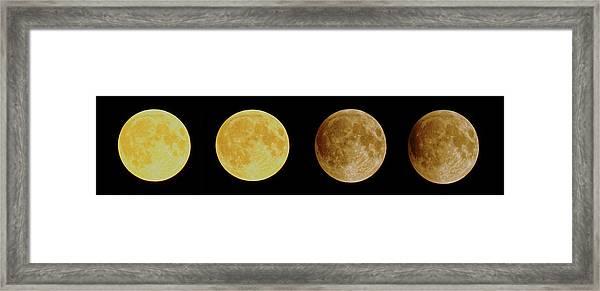 Lunar Eclipse Progression Framed Print