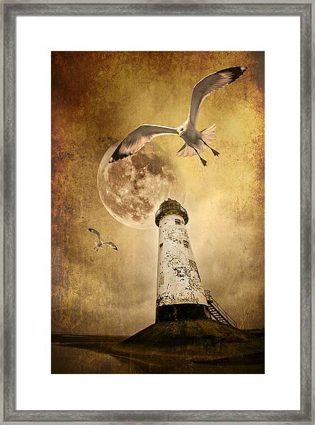 Lunar Flight Framed Print
