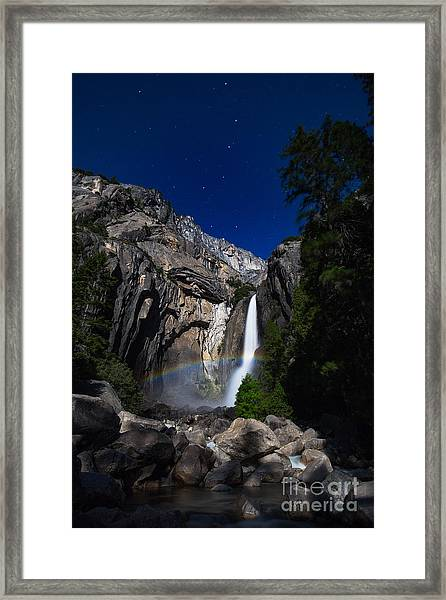 Lunar Rainbow Framed Print