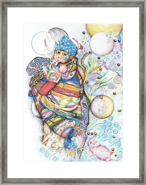 Lunas Y Estrellas Perdidas- Sombra De Arreguin Framed Print
