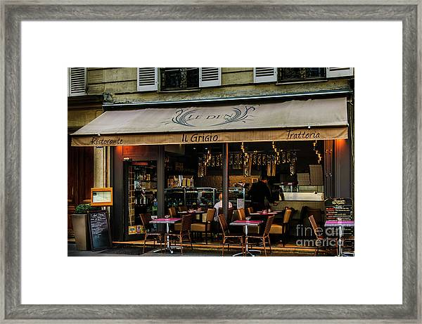 Lunch In Paris Framed Print