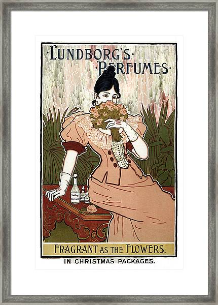 Lundborg's Perfumes - Vintage Advertising Poster Framed Print