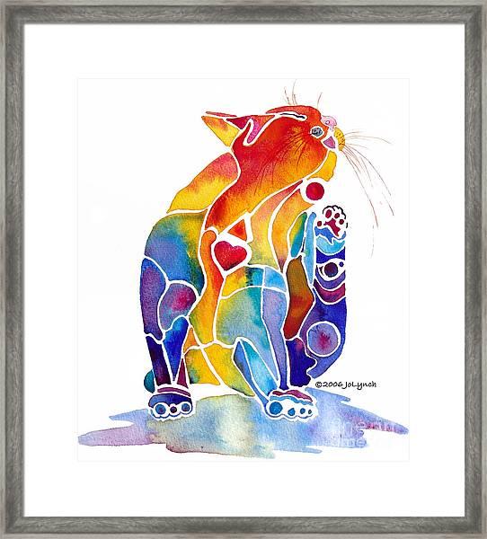 Luv Cat Framed Print