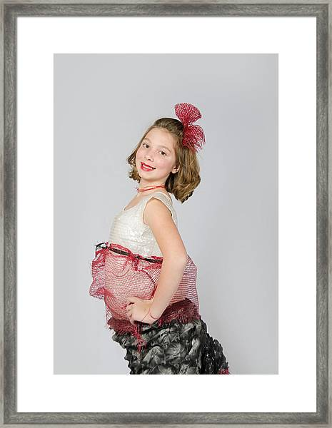 Lydia In Wraps Framed Print