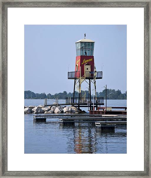 Lyman Harbor Lighthouse Framed Print