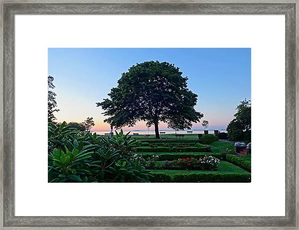 Lynch Park At Dawn Beverly Ma Framed Print
