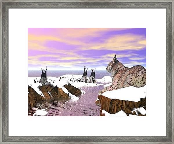 Lynx Watcher Render Framed Print